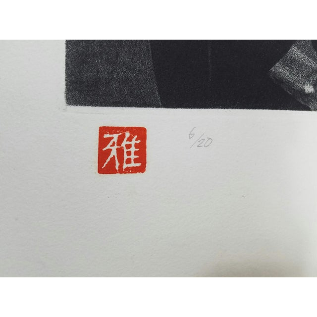 Antique Japanese Woodblock Print by M. Tsuru - Image 8 of 9