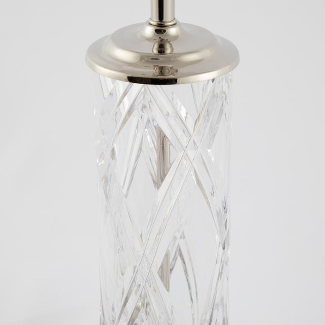 Olle Alberius for Orrefors Hand-Cut-Crystal Table Lamps, Circa 1970s For Sale In New York - Image 6 of 13