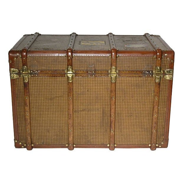 Early 20th Century French Steamer Trunk For Sale In San Francisco - Image 6 of 7