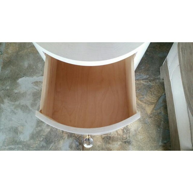 Italian-Inspired 1970s Style Round Nightstand - Image 8 of 8