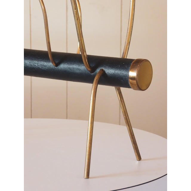 1950s Vienna Magazine Rack in the Style of Carl Aubock For Sale - Image 4 of 9