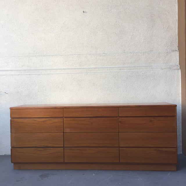 Danish 12-Drawer Teak Minimalist Dresser - Image 2 of 7