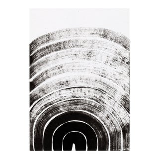 Modern Contemporary Minimal Black and White Drawing For Sale