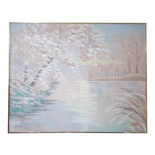 Impressionist Acrylic Painting on Canvas by Lee Reynolds For Sale