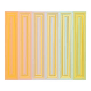 "Richard Anuszkiewicz, ""Sun Keyed"", Op Art Screenprint For Sale"