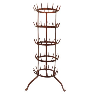 Early 20th C. Antique French Large Wine Rack For Sale