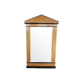 Transitional 1960's Satinwood Mirror