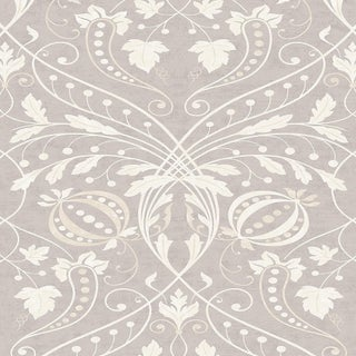 "Lewis & Wood Chateau Cashmere Extra Wide 52"" Damask Wallpaper Sample For Sale"