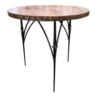 1990s Contemporary Copper Center/Dining Table For Sale