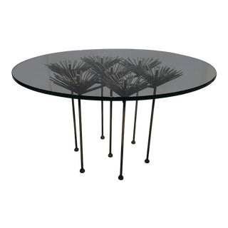 Brutalist Style Polished Steel Table For Sale