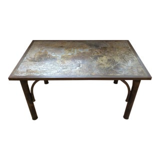 Philip & Kelvin Laverne Bronze Coffee Table For Sale