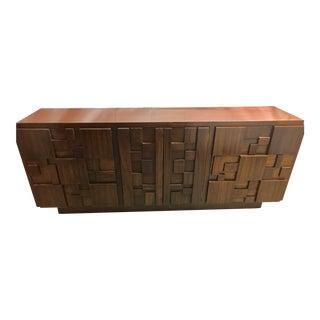 Mid-Century Lane Brutalist Credenza Dresser For Sale