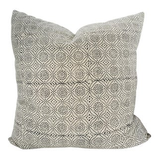 Floral Indian Block Print Pillow Cover For Sale
