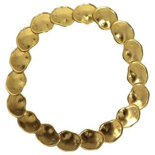 Kjl Kenneth J Lane Gold Artisan Inspired Necklace For Sale