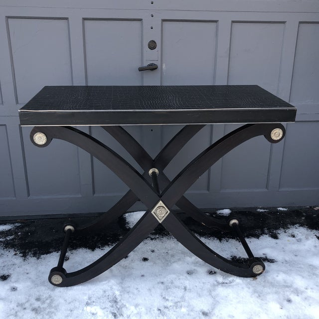 20th Century Art Deco Maitland-Smith Bar Table/Console For Sale - Image 11 of 11