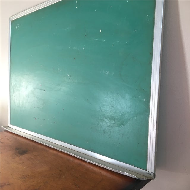 Vintage Green Wall Mounted Chalkboard - Image 3 of 6