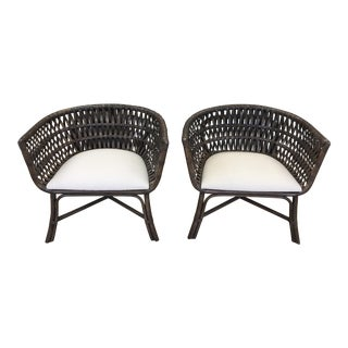 Bernhardt Weave Chairs - A Pair