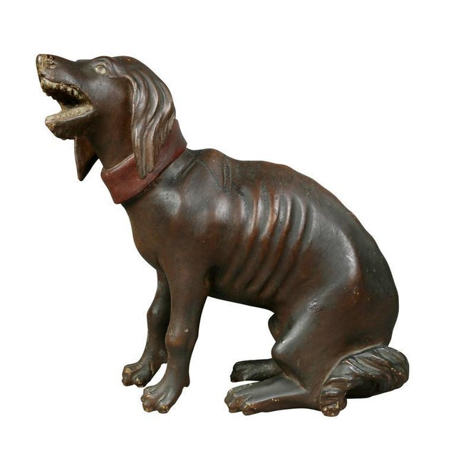 Unusual Painted and Carved Wood Dog For Sale - Image 9 of 10