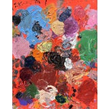 Image of Abstract Oil Painting, 'Red Rover' by Sean Kratzert For Sale