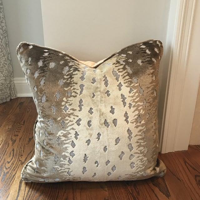Old World Weavers Silk Cut Velvet Antelope Pillow For Sale In New York - Image 6 of 7