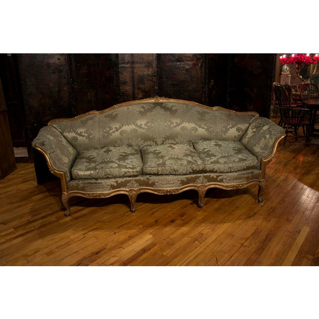 1900s Vintage French Gilt Wood Sofa For Sale - Image 4 of 4