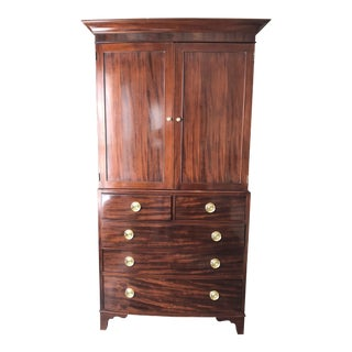 Baker Mahogany George III Linen Press