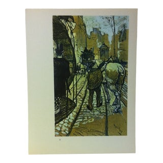 """Circa 1980 """"The Trace Horse of the Omnibus Company 1888"""" Color Print of a Toulouse-Lautrec Drawing For Sale"""