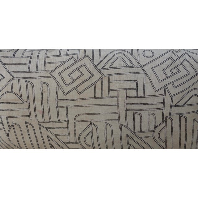 Geometric Kuba Cloth Pillows - A Pair For Sale - Image 5 of 10