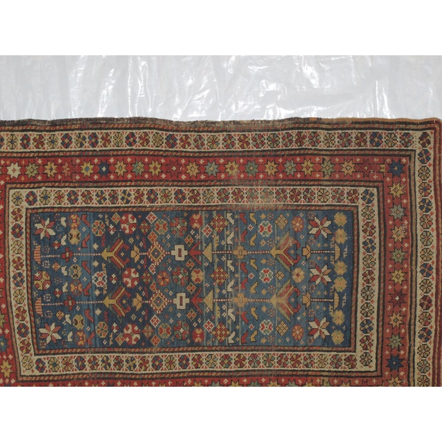 """Antique Russian Shirvan Rug - 3' X 4'6"""" - Image 4 of 6"""