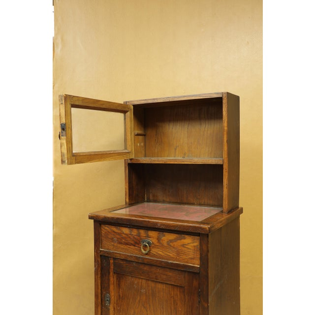 Antique American Two-Part Step Back Cupboard With Hutch For Sale - Image 4 of 13