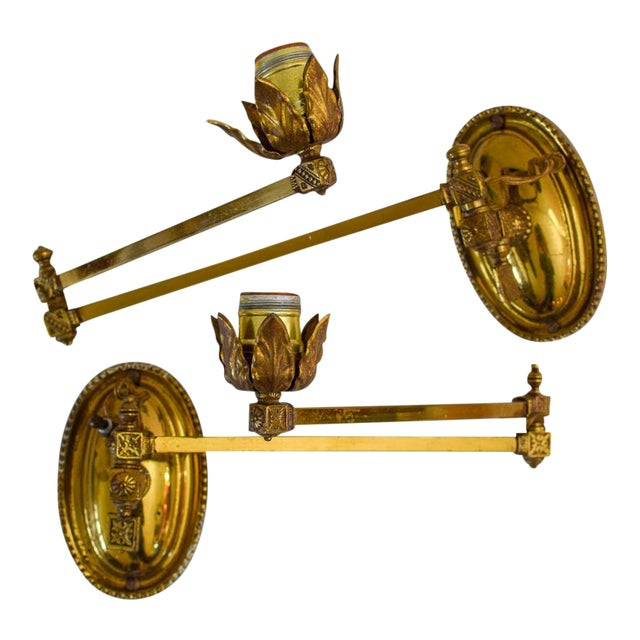 Early 20th Century Metal Wall Lamps - a Pair For Sale