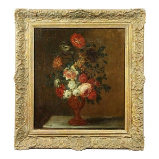 French Flowers Still Life Painting For Sale