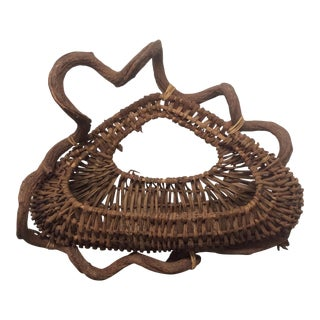 Primitive Folk Art Vine and Twig Wall Basket
