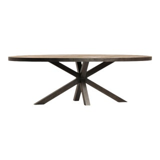 Rustic Oval Dining Table For Sale