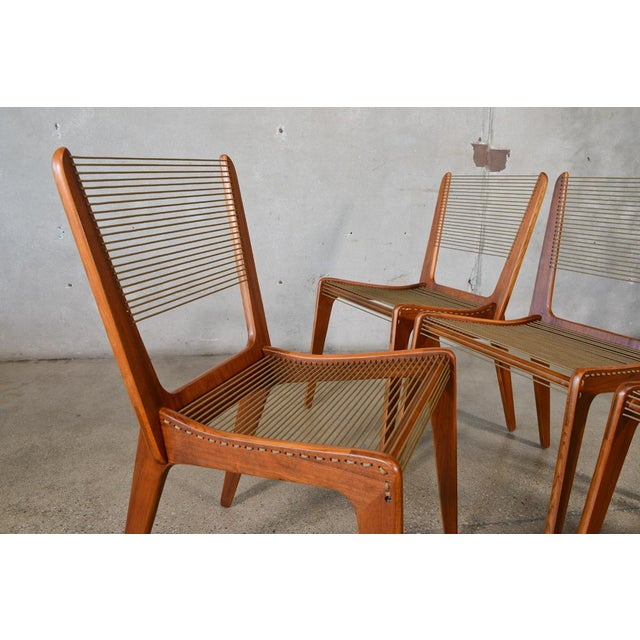 Jacques Guillou Modern String Chairs - Set of 4 - Image 3 of 8