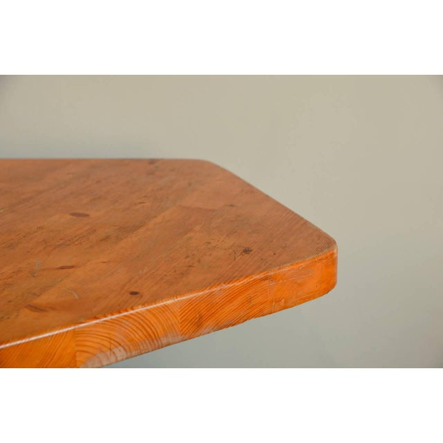 1960s Pentagonal Pine Table by Charlotte Perriand for 'Les Arcs' Ski Resort For Sale - Image 5 of 9