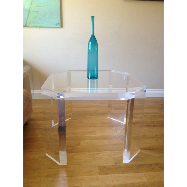 Charles Hollis Jones Vintage Lucite Side Table - Image 6 of 7
