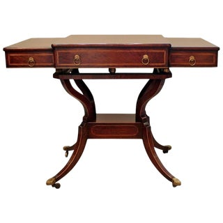 Late 19th Century Antique Regency Style Rosewood Console Table For Sale