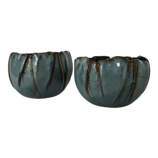 Studio Pottery Bowls, a Pair For Sale