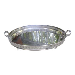 Sheffield Silverplate Tray of Generous Proportions, Circa 1940. For Sale