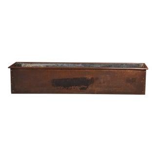 Mid 20th Century Copper Window Box Planter For Sale