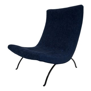1960s Vintage Milo Baughman Scoop Chair For Sale