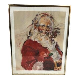 Impressionistic Santa Print