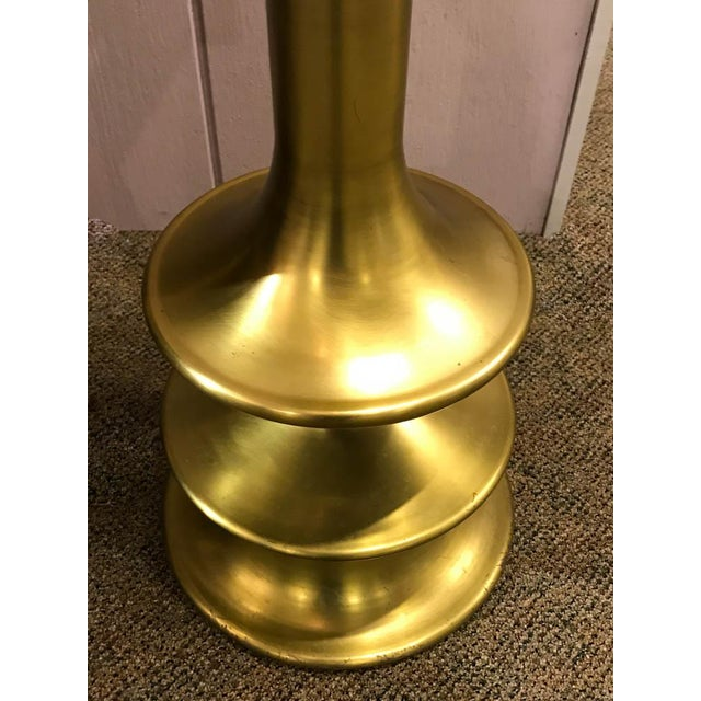 Boho Chic Vintage Curvy Brass Floor Lamp For Sale - Image 3 of 7