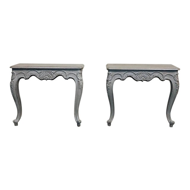 Pair 19th Century French Louis XV Painted Consoles For Sale