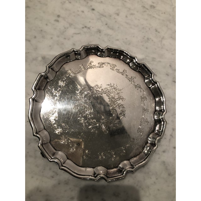 Traditional Antique Old Sheffield Silver Plate Tray For Sale - Image 3 of 10