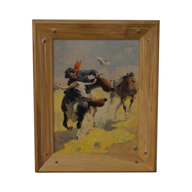 Brandt Ranch Oak Framed Cowboy Print - Image 1 of 10