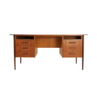 Mid-Century Modern Teak Writing Desk For Sale
