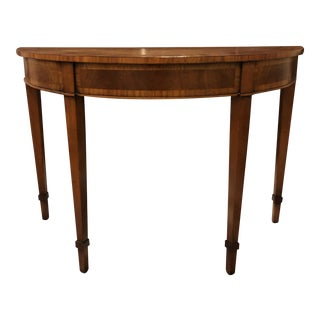 English Traditional Demi-Lune Entry Hall Table For Sale