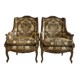 18th Century Hand Carved Antique Chairs - a Pair